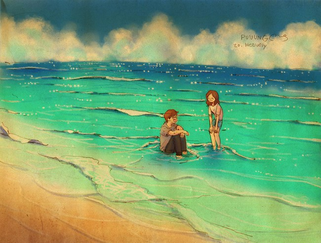 Yêu nhau đôi khi chỉ là làm những việc chẳng liên quan trong lúc ở bên nhau, miễn là cả hai đều vui vẻ - Ảnh 10.