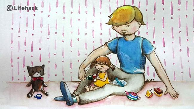 Bộ tranh: Bất cứ cô con gái nào cũng có một ông bố tuyệt vời như thế này đây! - Ảnh 13.