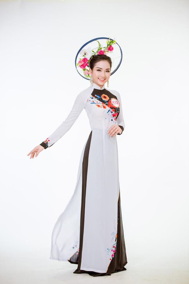 Trước Chung kết, top 30 HHVN 2016 khoe dáng nuột trong bộ ảnh áo dài - Ảnh 8.