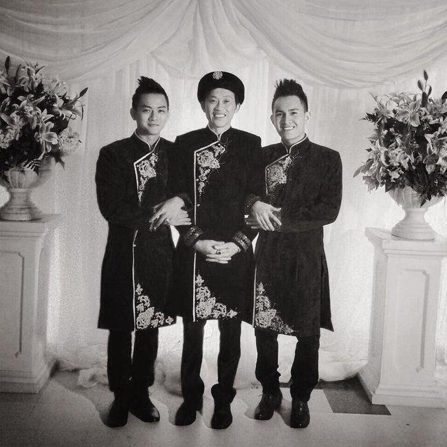 Hoài Lâm đăng ảnh chụp cùng Hoài Linh và anh trai nuôi mừng Ngày của Cha - Ảnh 1.