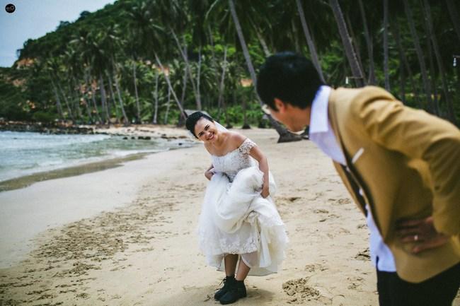 Bộ ảnh cưới nhìn là thấy hạnh phúc của cặp đôi yêu từ tin nhắn: Ê, hai đứa mình quen nhau nha - Ảnh 14.
