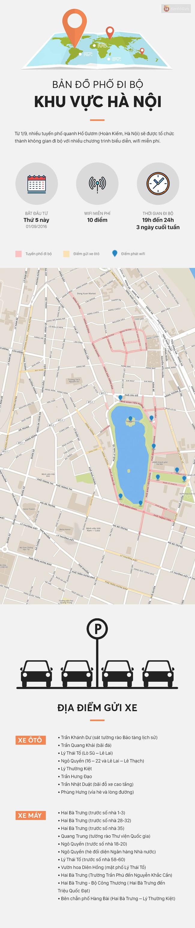 Infographic: 16 tuyến phố đi bộ quanh Hồ Gươm và những điểm gửi xe tiện lợi cho du khách - Ảnh 5.