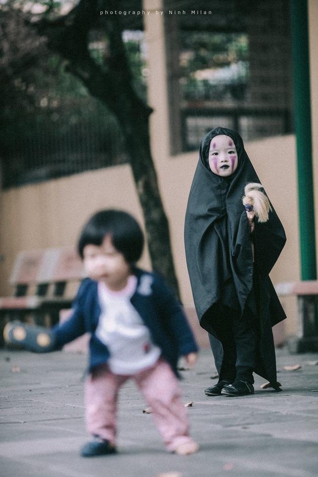 Không kém cạnh cô bé Đài Loan, Vô Diện nhí phiên bản Việt cũng đáng yêu vô cùng! - Ảnh 7.