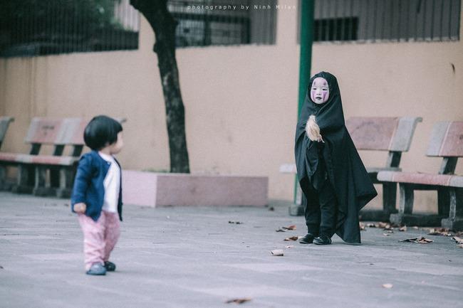 Không kém cạnh cô bé Đài Loan, Vô Diện nhí phiên bản Việt cũng đáng yêu vô cùng! - Ảnh 6.