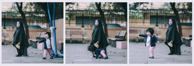 Không kém cạnh cô bé Đài Loan, Vô Diện nhí phiên bản Việt cũng đáng yêu vô cùng! - Ảnh 4.