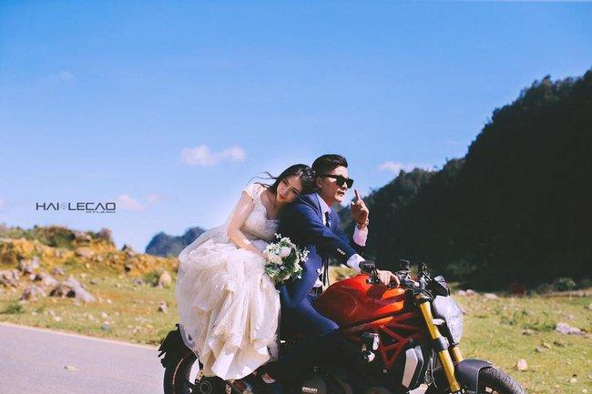 Bộ ảnh cưới trên cung đường phượt tuyệt đẹp của cặp đôi yêu nhau từ cái nhìn đầu tiên - Ảnh 1.