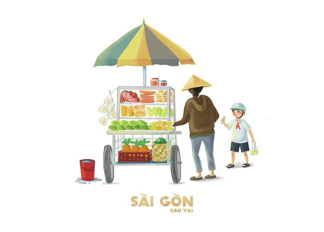 Bộ tranh Sài Gòn sau vai: Khi Sài Gòn thu bé lại chỉ bằng vài bờ vai! - Ảnh 10.