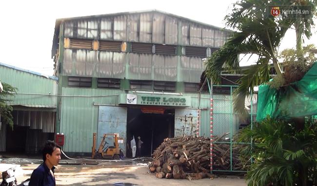 Cháy lớn bên trong công ty chuyên sản xuất mút xốp ở Sài Gòn, khói đen bốc nghi ngút - Ảnh 4.