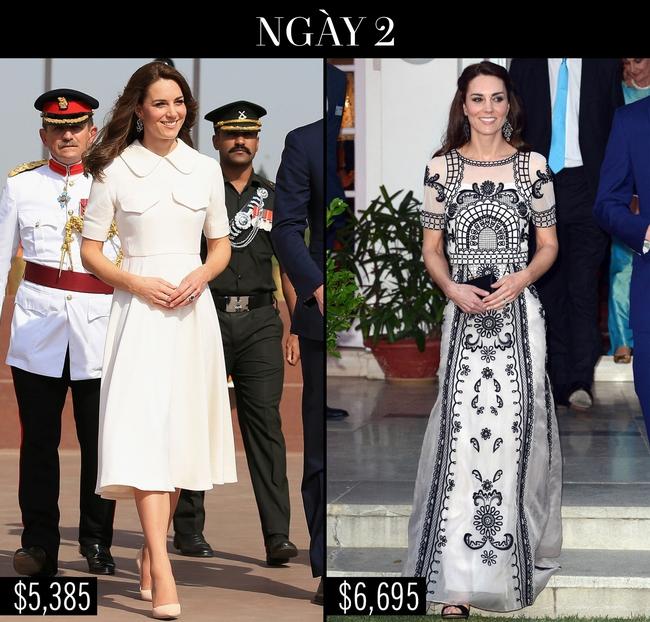Công nương Kate chi hơn 1 tỉ VNĐ cho 17 bộ đồ trong tuần công du - Ảnh 5.