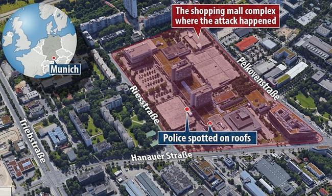Đức: Xả súng tại trung tâm thương mại thành phố Munich, ít nhất 6 người chết - Ảnh 9.