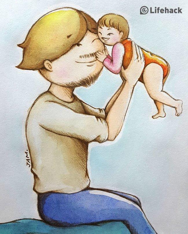 Bộ tranh: Bất cứ cô con gái nào cũng có một ông bố tuyệt vời như thế này đây! - Ảnh 2.