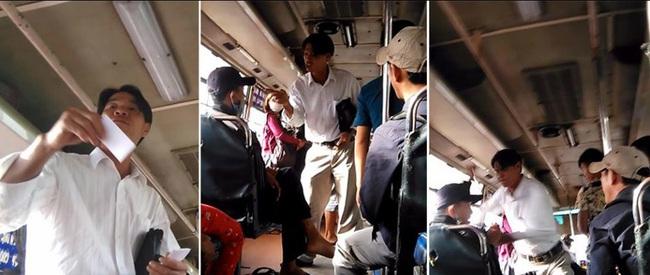 Giang hồ cướp tiền, hành hung khách ngay trên xe buýt - Ảnh 1.