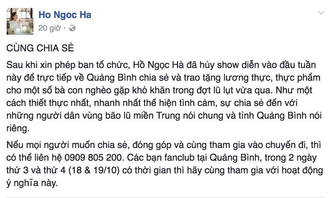 Các sao Việt cũng đang cùng chung tay giúp đỡ đồng bào lũ lụt miền Trung - Ảnh 3.
