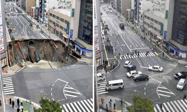 Nhật Bản sửa xong 1 hố tử thần khổng lồ trong vỏn vẹn 2 ngày, xin lỗi người dân vì đã gây ra bất tiện - Ảnh 3.