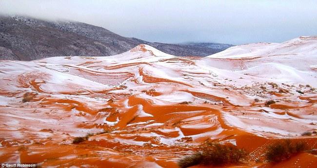 Lần thứ 2 trong lịch sử, sa mạc Sahara có tuyết rơi! - Ảnh 1.
