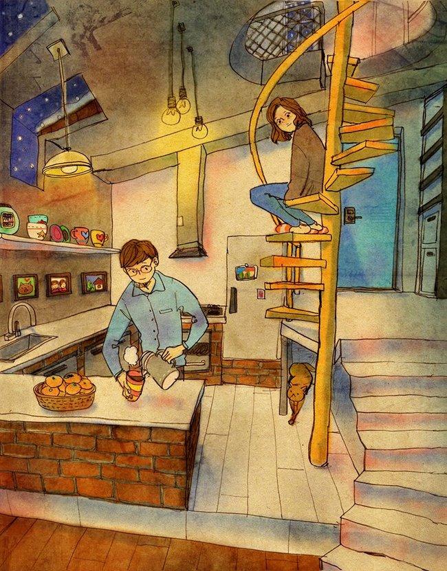 Yêu nhau đôi khi chỉ là làm những việc chẳng liên quan trong lúc ở bên nhau, miễn là cả hai đều vui vẻ - Ảnh 4.