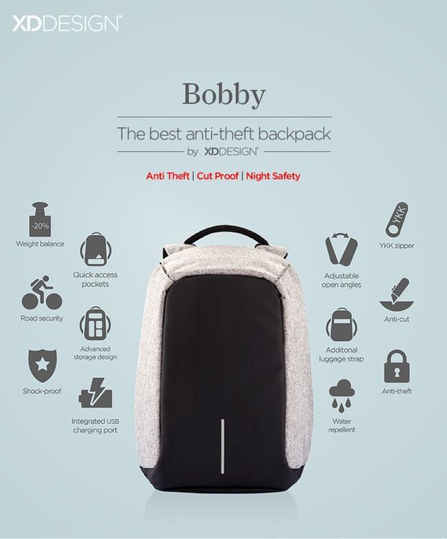 Chả lo mất trộm hay hết pin với chiếc balo toàn năng Bobby - Ảnh 2.
