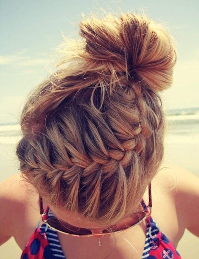14 biến tấu tóc búi xinh xắn giải nhiệt cho ngày nắng nóng - Ảnh 9.