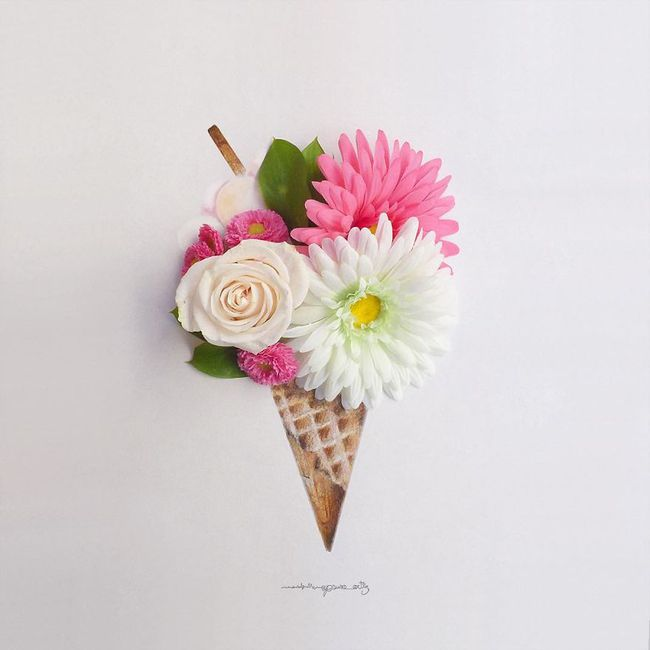 Họa sĩ hô biến cánh hoa xinh đẹp thành tác phẩm nghệ thuật độc đáo - Ảnh 10.