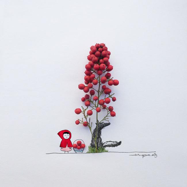 Họa sĩ hô biến cánh hoa xinh đẹp thành tác phẩm nghệ thuật độc đáo - Ảnh 3.