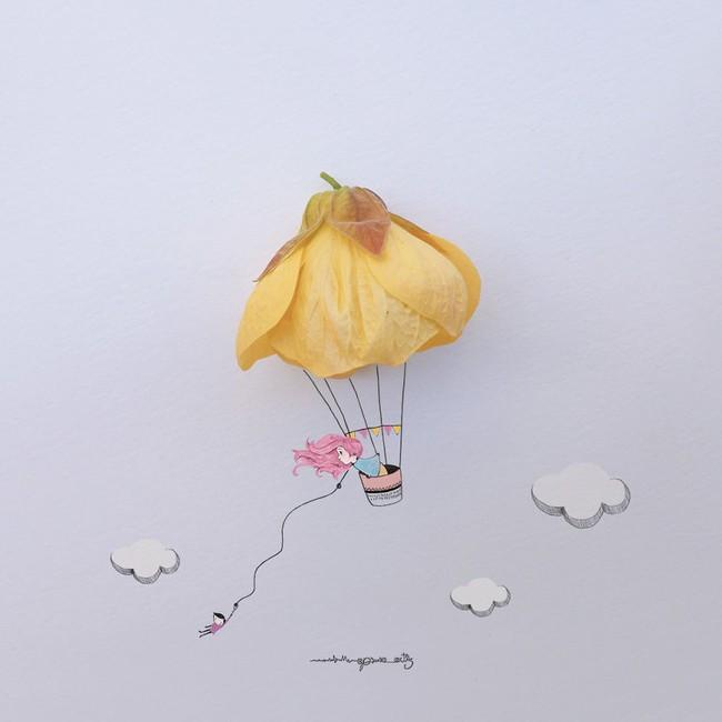 Họa sĩ hô biến cánh hoa xinh đẹp thành tác phẩm nghệ thuật độc đáo - Ảnh 2.