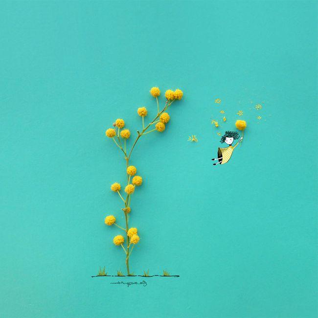 Họa sĩ hô biến cánh hoa xinh đẹp thành tác phẩm nghệ thuật độc đáo - Ảnh 9.