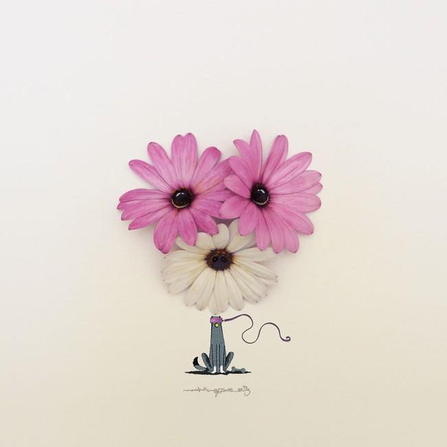 Họa sĩ hô biến cánh hoa xinh đẹp thành tác phẩm nghệ thuật độc đáo - Ảnh 7.