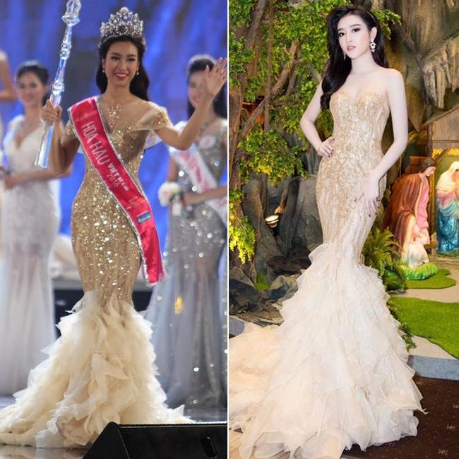 Vừa đăng quang, Hoa hậu Đỗ Mỹ Linh đã bị phát hiện mặc váy na ná Á hậu Huyền My - Ảnh 6.