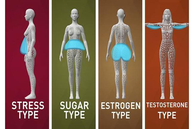 Trừ phi bạn biết chính xác mình béo dạng nào, không thì không bao giờ giảm cân được đâu!