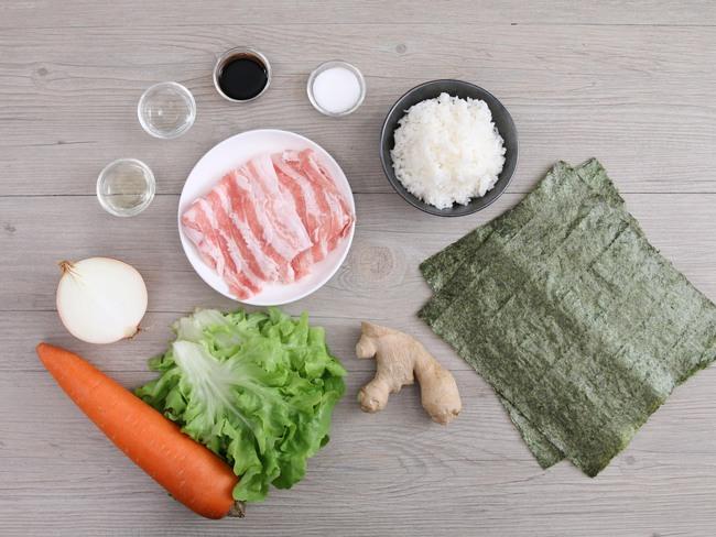 Hamburger kết hợp với sushi ra bữa trưa kiểu Nhật ngon miệng đẹp mắt - Ảnh 1.