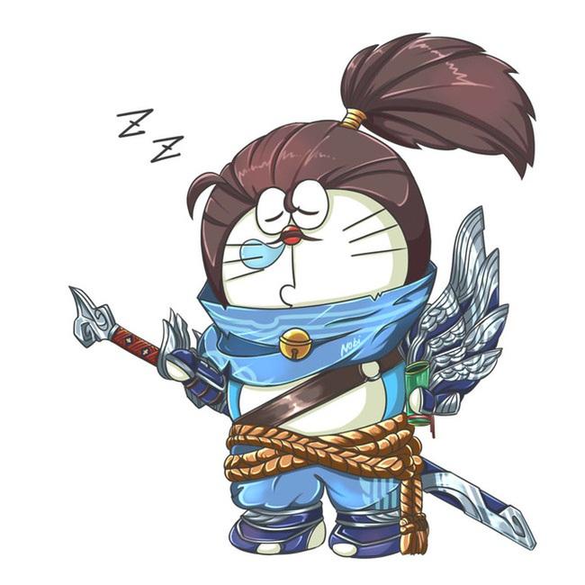 Khi mèo ú Doraemon cosplay các anh hùng Liên Minh Huyền Thoại - Ảnh 1.