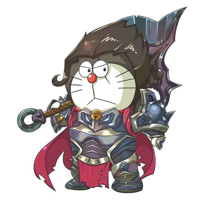 Khi mèo ú Doraemon cosplay các anh hùng Liên Minh Huyền Thoại - Ảnh 3.