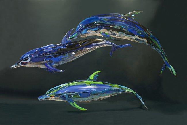 Từ nhựa phế liệu, nghệ sĩ này đã dựng nên mô hình động vật vô cùng tinh xảo - Ảnh 4.