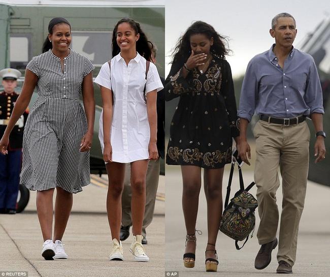 Cư dân mạng nhận xét cha con Tổng thống Obama giữ khoảng cách sau scandal Malia hút cần sa - Ảnh 2.