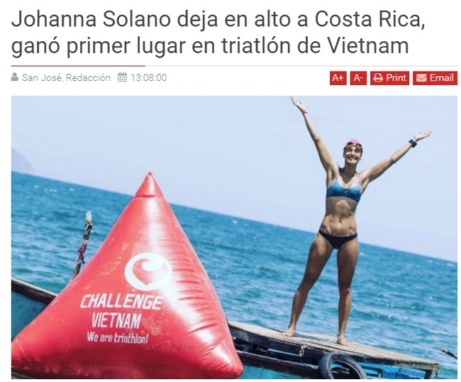 Hoa hậu hoàn vũ Costa Rica gây sửng sốt ở giải 3 môn phối hợp tại Việt Nam - Ảnh 14.