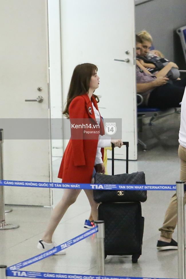 Ngọc Trinh xinh đẹp xuất hiện ở sân bay, sang Mỹ thăm người tình tỷ phú? - Ảnh 5.