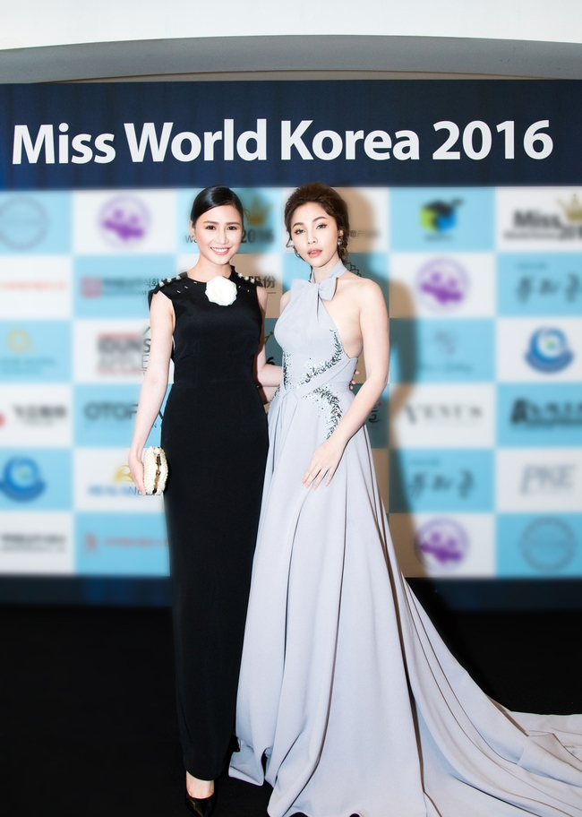 Ngọc Trinh khoe chân trắng nõn, được BTC tặng hoa trên sân khấu Hoa hậu Hàn Quốc 2016 - Ảnh 13.