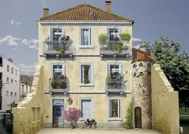 Chán ngán với các bức tường xám xịt, họa sĩ này đã tạo ra cả một thành phố nghệ thuật - Ảnh 1.