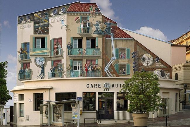 Chán ngán với các bức tường xám xịt, họa sĩ này đã tạo ra cả một thành phố nghệ thuật - Ảnh 4.