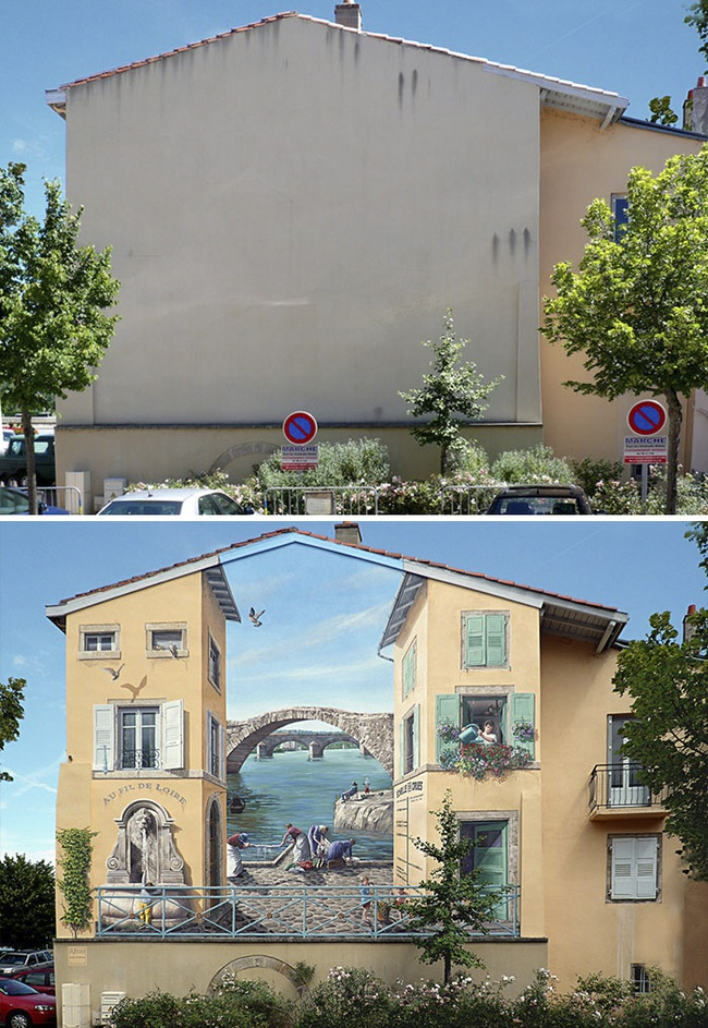 Chán ngán với các bức tường xám xịt, họa sĩ này đã tạo ra cả một thành phố nghệ thuật - Ảnh 5.