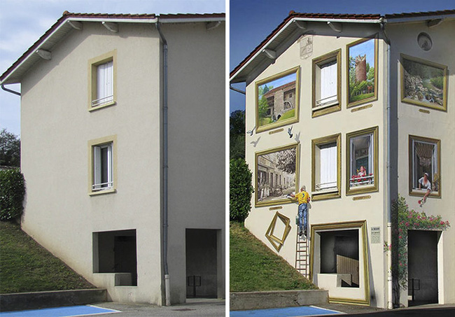 Chán ngán với các bức tường xám xịt, họa sĩ này đã tạo ra cả một thành phố nghệ thuật - Ảnh 7.