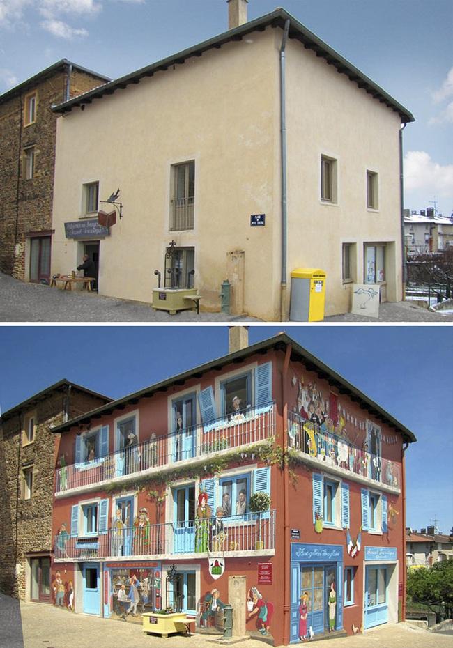 Chán ngán với các bức tường xám xịt, họa sĩ này đã tạo ra cả một thành phố nghệ thuật - Ảnh 8.