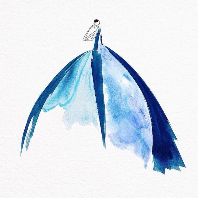 Những bản vẽ thiết kế thời trang loang lổ khiến người xem mãn nhãn - Ảnh 6.