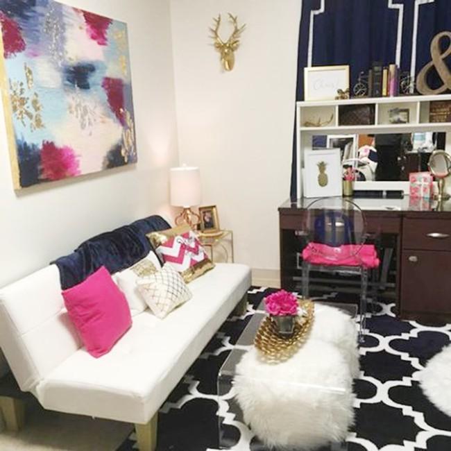 Phòng ký túc xá sang trọng như khách sạn của hai nữ sinh Mỹ - Ảnh 4.