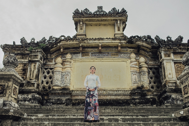 Lệ Quyên hoá gái Huế dịu dàng trong album nhạc Lam Phương - Ảnh 9.