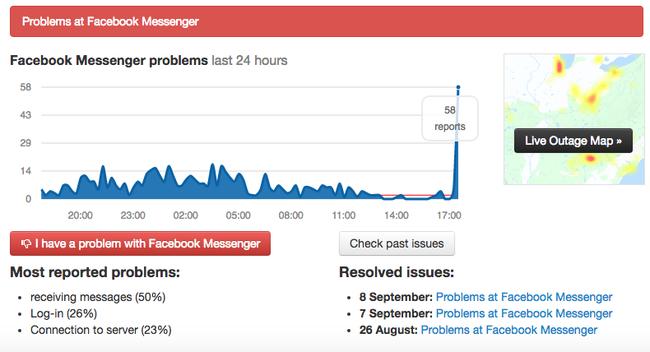 Facebook Messenger gặp lỗi, bất ngờ bị sập mạng - Ảnh 1.