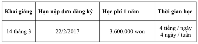 Tuyển sinh du học Hàn Quốc học kỳ mùa xuân 2017 - Ảnh 4.