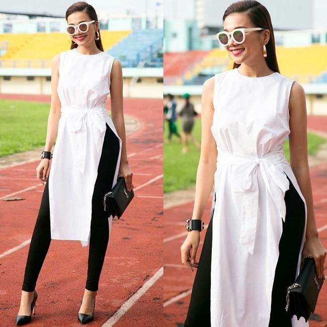 Phạm Hương diện váy xinh như công chúa, bộ đôi SNSD để lộ nội y tại sân bay - Ảnh 2.