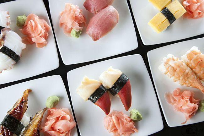 gừng hồng không phải gia vị ăn kèm sushi hay sashimi