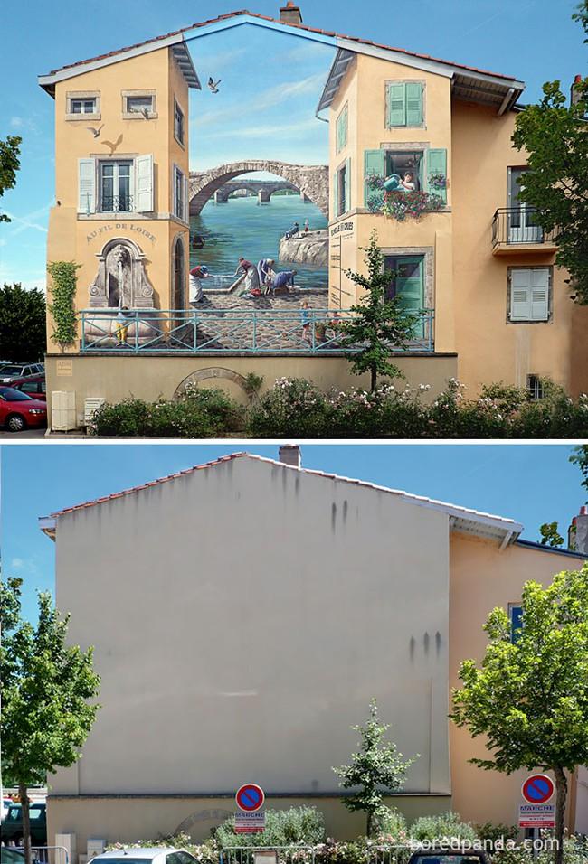 Sự thay đổi diện mạo ngoạn mục của những... bức tường lem nhem - Ảnh 3.